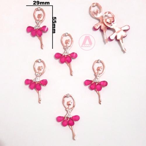 Bailarina de Pedra de Strass Cor ROSA PINK
