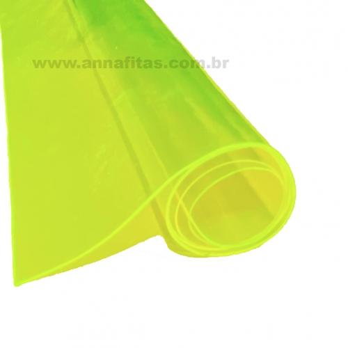 Lonita Cristal cor Verde Neon 23cm por 40cm a unidade Ref: LCRI003