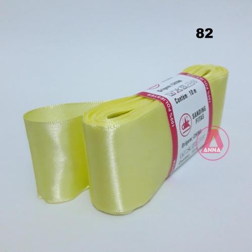 Fita de Cetim Sanding de 38mm Com 10 metros Cor- 82 Amarelo Neon