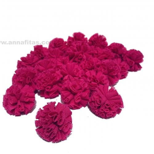 Pompom de Poliéster 2,5cm com 25 Unidades Rosa Pink Ref: 11
