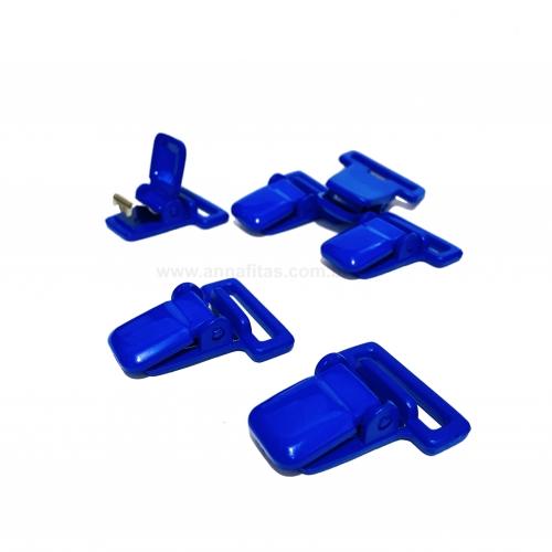 Clipes Jacaré para Prendedor de Chupetas de 38x32mm uma unidade cor AZUL ROYAL Ref: PR30AZR