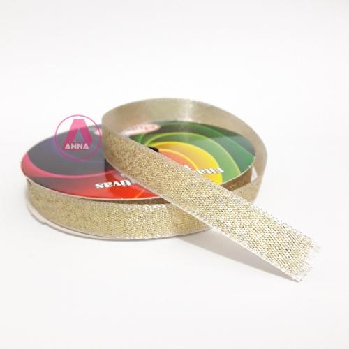 Fita Sinimbu Lurex Nº2 de 10mm Dupla Face com 10 Metros Cor- 02 Dourada