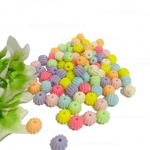 Bolas miçangas engrenagem de 10mm colorido Candy pacote com 50g Ref- BOL10T
