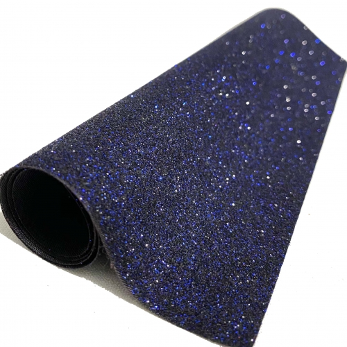 Lonita glitter Fino Azul Marinho 24 por 40 cm Ref 40