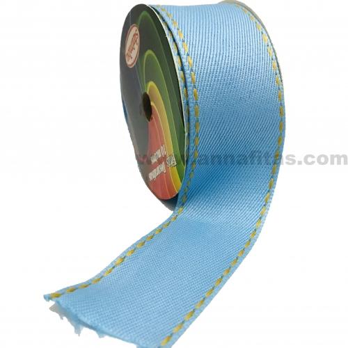 Fita Jeans Pespontada Sinimbu de 38mm Com 10 Metros Ref:1785-38 Cor- 03 Jeans Claro