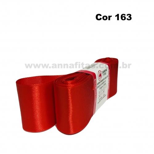 Fita de Cetim Sanding de 38mm Com 10 metros Cor- 163 Vermelho escuro