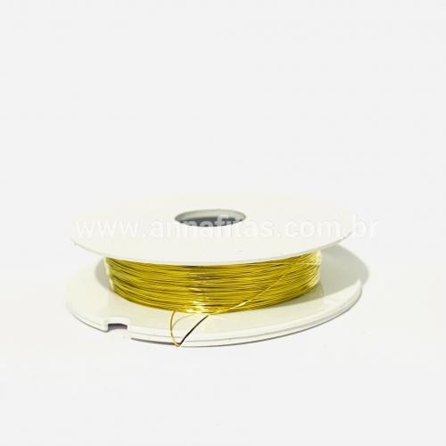 Fio Cabelo de Anjo de 0,3mm com 50 metros Dourado  Ref - FCA03D