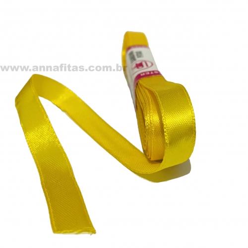 Fita de Cetim Sanding de 10mm com 10 metros Cor- 132 Amarelo Sol
