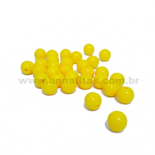 Bolas Leitosas Furo Passante de 8mm, pacote com 50 gramas, Cor- Amarelo Ref- 018