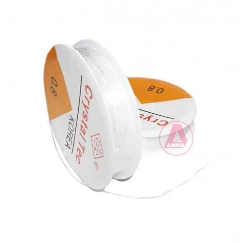 Fio de Silicone Transparente IMPORTADO 0.8mm Rolo com 6 Metros