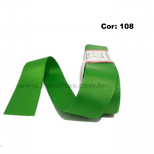 Fita de Gorgurão Sanding de 22mm com 10 Metros, Nº5 Cor - 108