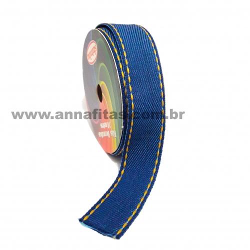 Fita Jeans Pespontada Sinimbu de 22mm Com 10 Metros Ref:1785-22 Cor- 01 Jeans
