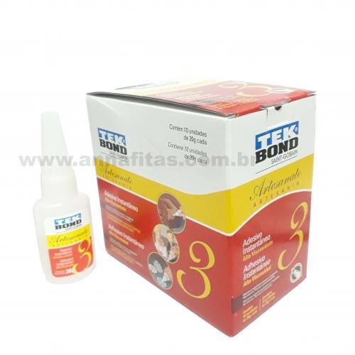 Caixa de Cola Tec Bond Artesanal N3 com 10 unidades de 20g