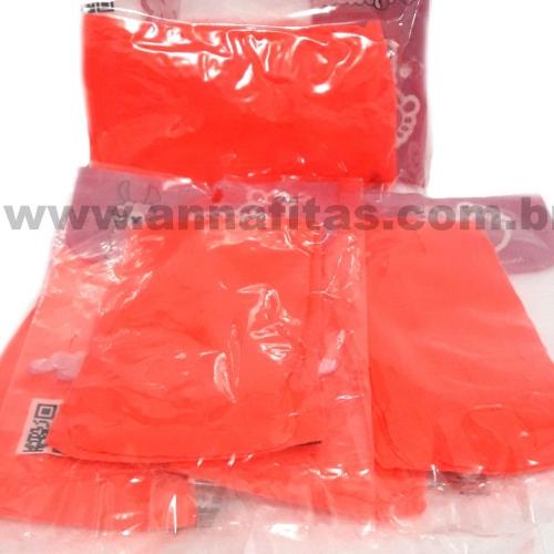 Pacote com 5 Unidade Meia de Seda Passo Fofo Laranja Neon Florescente Cor-34