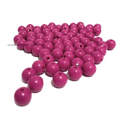 Bolas Leitosas Furo Passante de 8mm, pacote com 50 gramas, Cor- Rosa Pink Ref- LEIT044