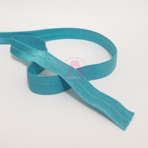 Elástico de Viés Azul Turquesa Cor-47 15mm 1 Metro