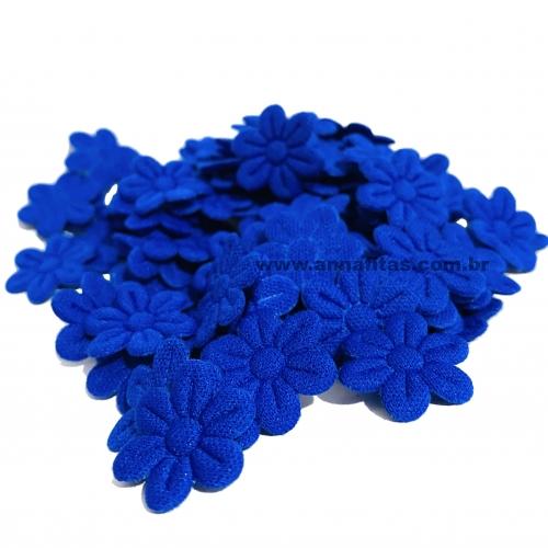 Mini Flor Prensada AZUL ROYAL com 100 unidades de 2cm Ref- MFP007