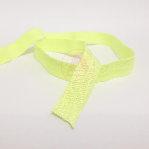 Elástico de Viés Verde Limão Cor-57 15mm 1 Metro