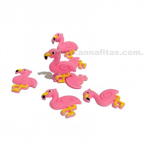 Aplique em Silicone Flamingo ROSA 4x3,3cm Ref: TFLA006