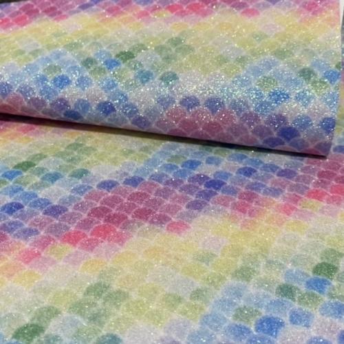 Lonita glitter Fino ESCAMAS cores Claras 24 por 40 cm Ref 60