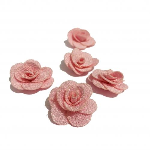 Flor de Tecido ROSA com 5 unidades de 3cm  Ref- MFG04