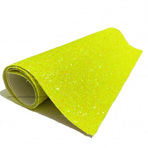 Lonita glitter Flocado Verde Neon 24 por 40 cm Ref 36