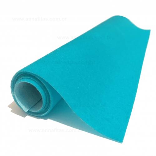 Lonita camurça Nobuck para laços 23x40cm Cor - Azul Celeste
