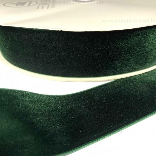 Fita de Veludo Sanding 38mm o Metro Cor- 165 Verde Escuro