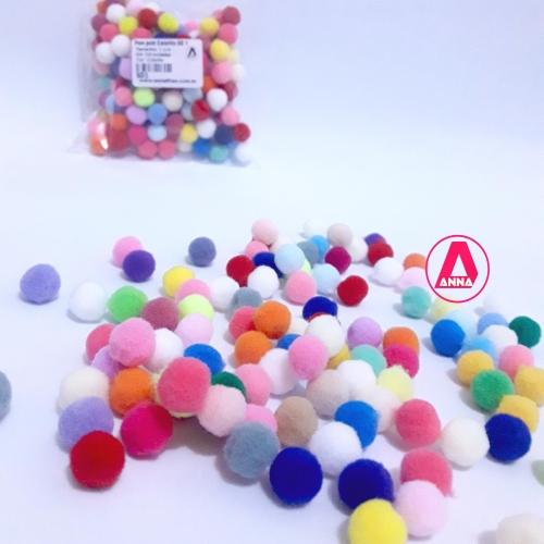 Pom pom Colorido SD Com 100 Unidades Tamanho 1 cm REF:SD1