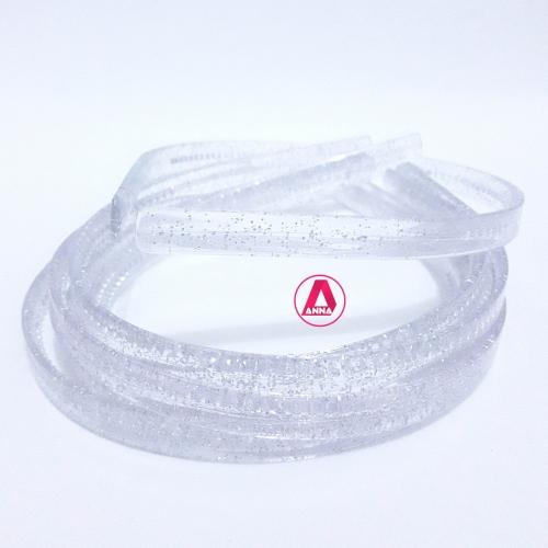 Tiara de dentinho com brilho, 10mm pacote com 6 Unidades Cor TRANSPARENTE