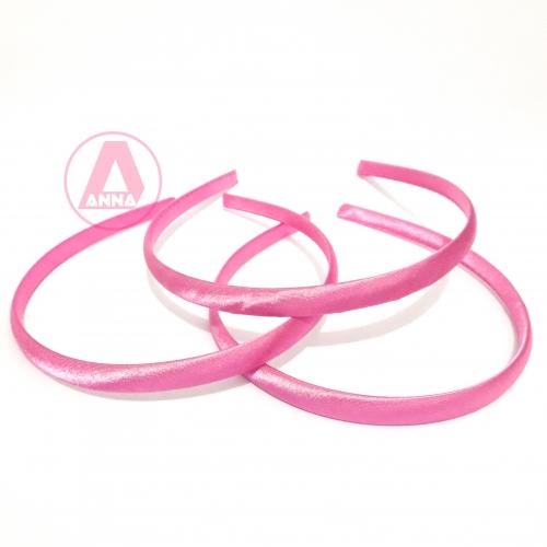 Tiara Cetim Encapada Rosa Pink 10mm Claro Cor- 128