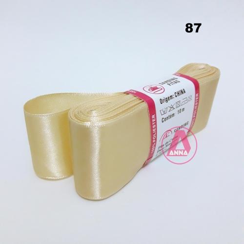 Fita de Cetim Sanding de 38mm Com 10 metros Cor- 87 Dourada