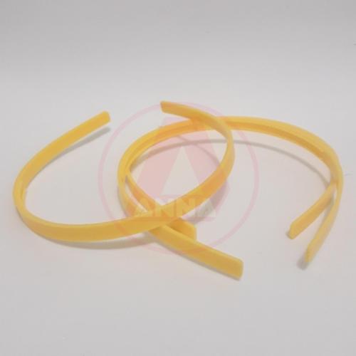 Tiara Dentinho de 8mm Amarelo Canário Cor-10 1 unidade