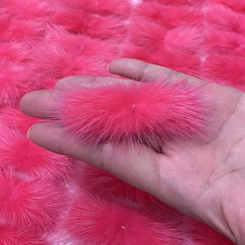 Pompom Bigode de Pelúcia de 3cm x 7cm 1 unidades cor ROSA  Ref- P3070RS