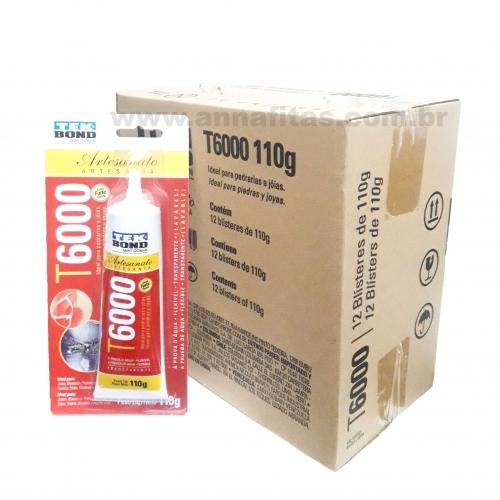 Caixa de Cola Tek bond T-6000 com 12 Unidades de 110g