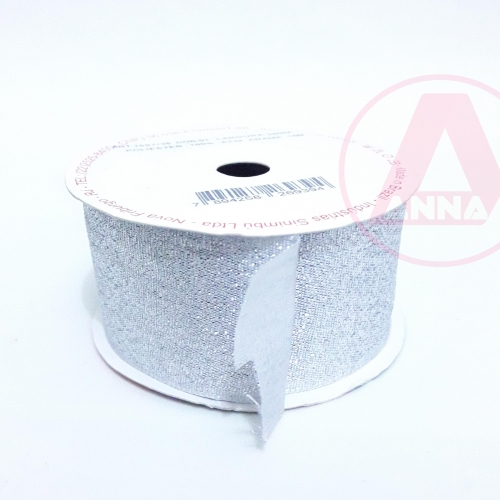 Fita Lurex Sinimbu 38 mm Dupla Face 10 Metros Cor-01