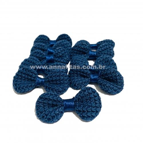 Lacinho de Crochê Melaço 2cm x 4,5cm AZUL MARINHO 10 Unidades Cor - 38