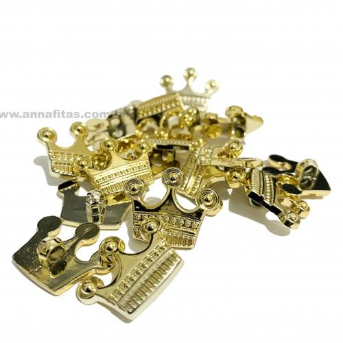 Botão Para Aplique em Coroa Dourada / Tamanho 11,05 mm a Unidade Ref - BT220C