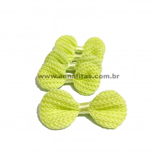 Laço de Crochê Melaço 3,0 x 5,5cm Pacotinho com 5 Unidades Cor - 19 Verde