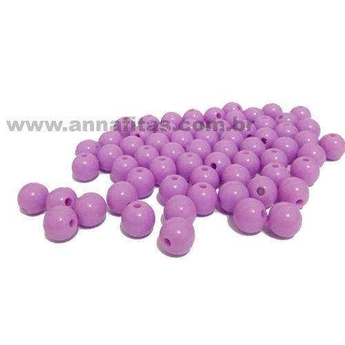 Bolas Leitosas Furo Passante de 8mm, pacote com 50 gramas, Cor- Lilás Ref- 16