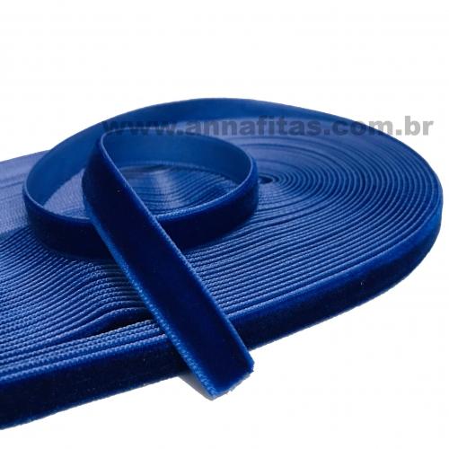 Fita de Veludo Sanding N2 de 10mm com 10 metros Cor - 75 Azul Royal