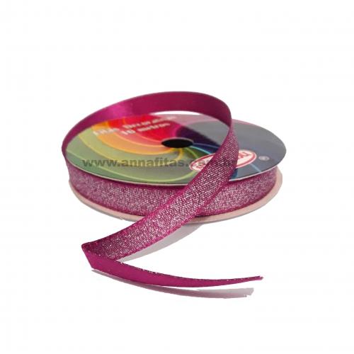 Fita Sinimbu Lurex Nº2 de 10mm Dupla Face com 10 Metros Cor- 05 Pink