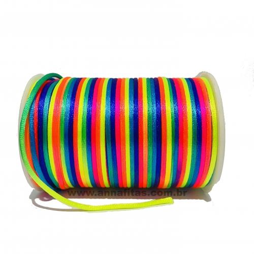 Fio de Seda Rabo de Rato de 2mm com 10 Metros Colorido Ref -  FCETI02