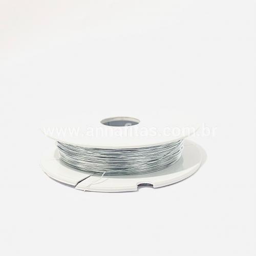 Fio Cabelo de Anjo de 0,3mm com 50 metros Prata Ref - FCA03P