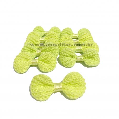 Lacinho de Crochê Melaço 2cm x 4,5cm VERDE 10 Unidades Cor - 19