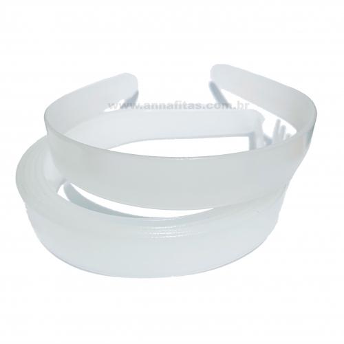 Tiara de Plástico Larga BRANCA de 22mm com 6 Unidades