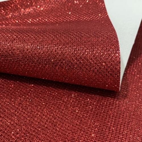 Lonita glitter Rugosa Vermelha  24 por 40 cm Ref 58