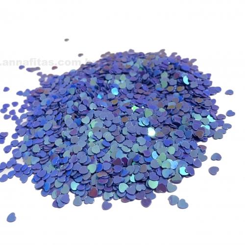 Apliques Confetes Paetê coração de 3mm com 15 gramas Cor LILÁS SEREIA Ref - CONF1LZ